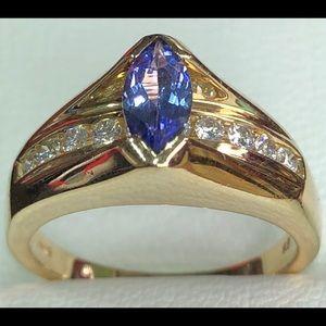 Jewelry - Ladies 3/4 CTW Tanzanite and Diamond Ring